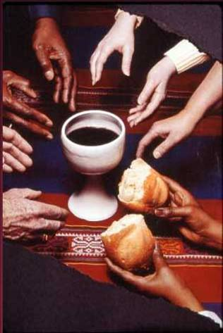 many hands cup bread